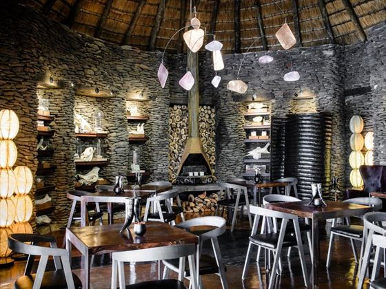Dining room at Singita Boulders Lodge