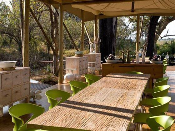 Dining room at Xaranna Tented Camp