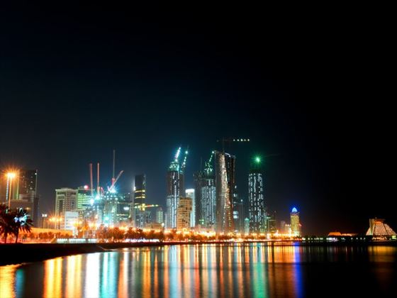Doha marina at night