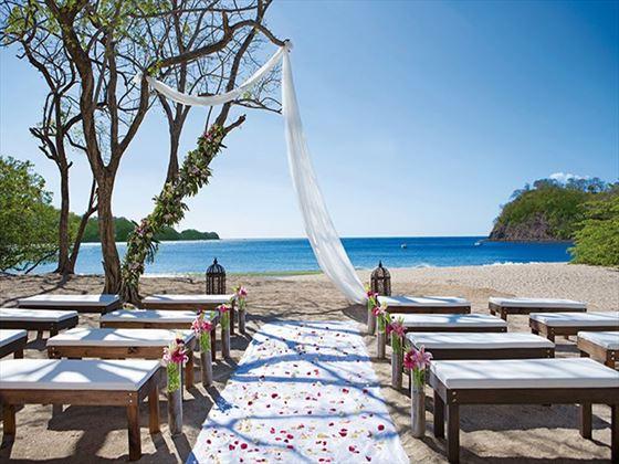 Dreams Las Mareas wedding setting