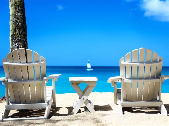Beach loungers at East Winds