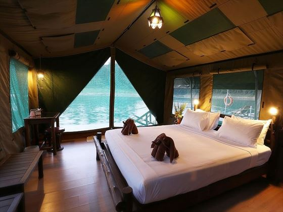 Elephant Hills - Rainforest Camp luxury floating tent