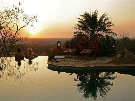 Sundowners in pool