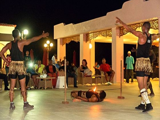 Evening entertainment at Hideaway of Nungwi Resort & Spa