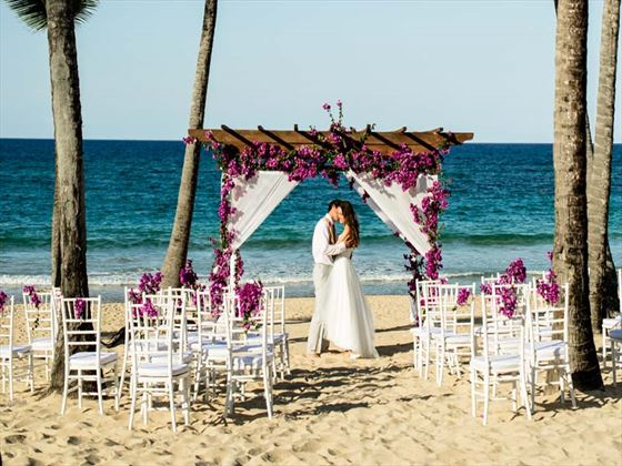 Beach wedding at Excellence Punta Cana