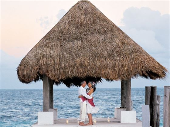 Pier wedding at Excellence Riviera Cancun