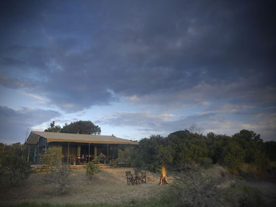 Exterior view of Porini Rhino Camp