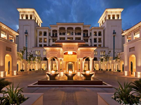 Exterior view of St Regis Saadiyat Island at night