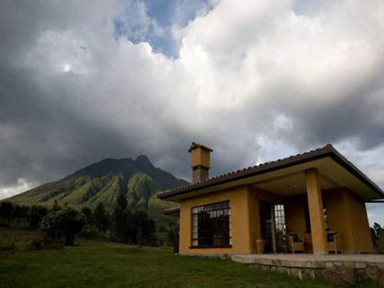 Exterior view of the accommodation at Sabyinyo Silverback Lodge