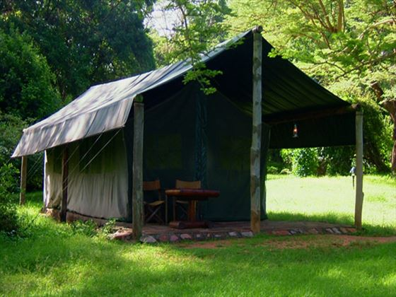 Exterior view of the tents at Siana Springs Intrepids