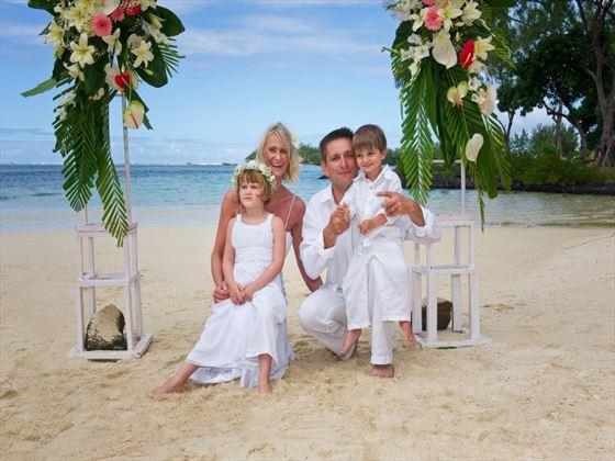 Family wedding at Shandrani Resort