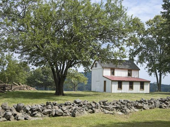 Farm house on the Gettysburg battlefield