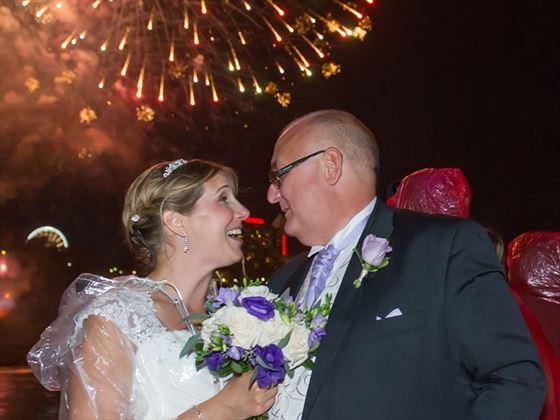 Wedding fireworks, Niagara Falls
