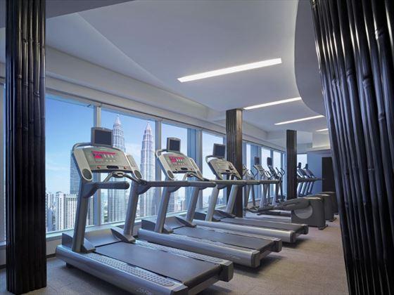 Fitness centre at Traders Hotel Kuala Lumpur