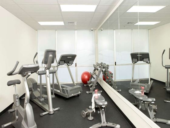 Fitness room at Aqua Waikiki Wave Hotel