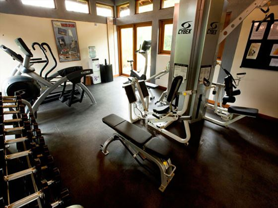 Fitness room at Serene Pavilions