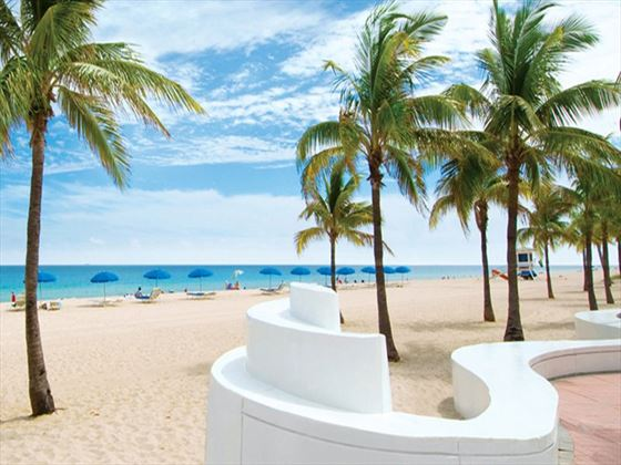 Ft. Lauderdale beach wedding setting