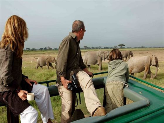 Game drive experience at Amboseli Sopa Lodge