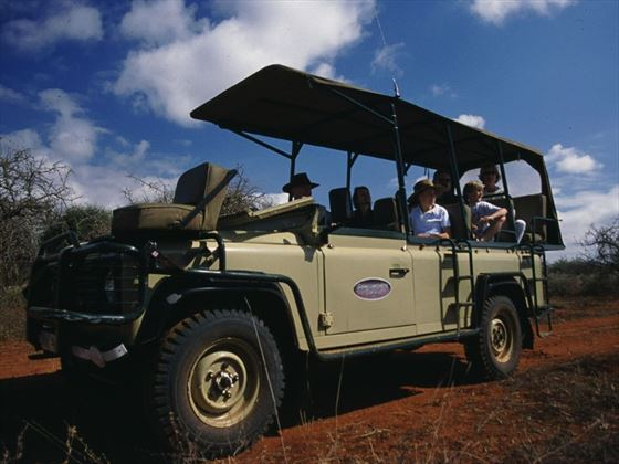 Game drive in the Selenkay Conservancy