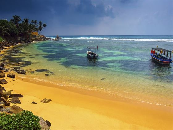The golden sands of Sri Lanka are a huge hit with families