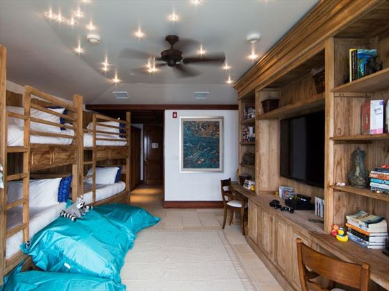 Great House bunkroom at Necker Island