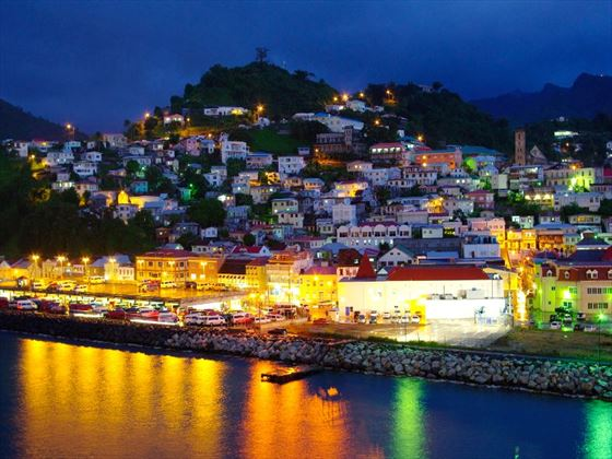View of Grenada at night
