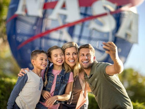Happy families at Kennedy Space Centre