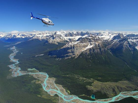 Heli tour over the Canadian Rockies