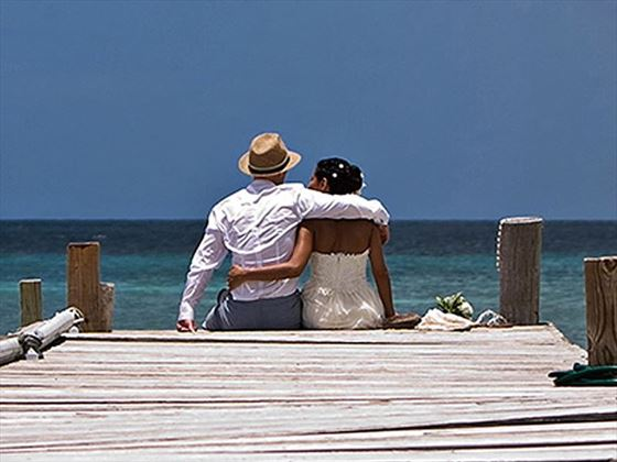 Wedded bliss at Hermitage Bay
