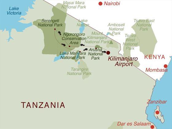Highlights of Tanzania Map