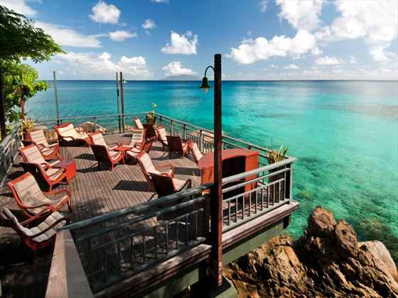 Hilton Seychelles Northolme Resort & Spa terrace with ocean views