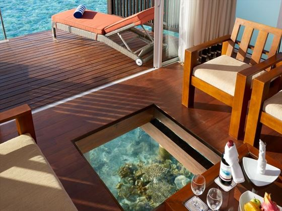 Over Water Bungalow Sitting Area