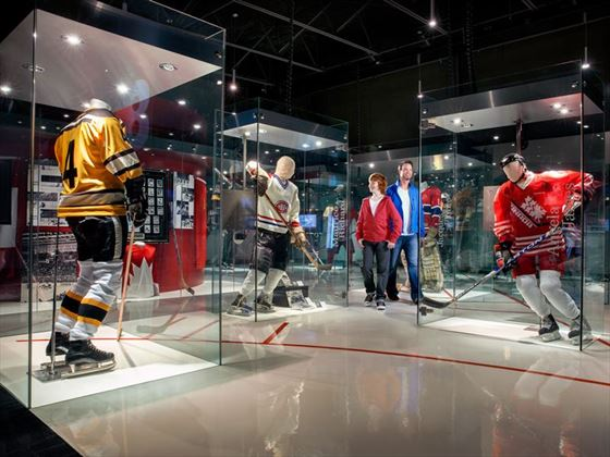 Hockey displays inside Canada's Sports Hall of Fame, Calgary