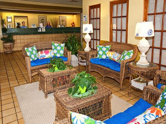 Holiday Isle Oceanfront Resort lobby