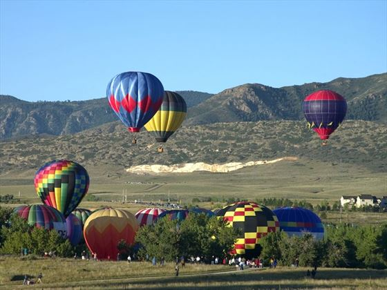 Hot air balloon festival in Denver, Colorado