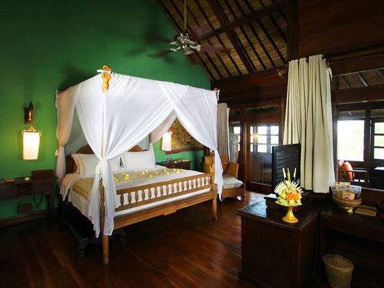 Rejang Suite bedroom at Hotel Tugu Bali, Canggu Beach