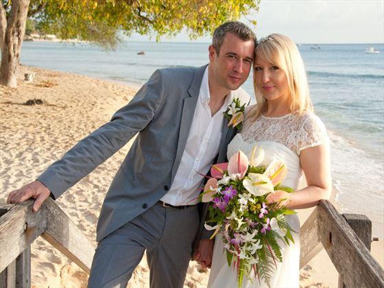 Wedding couple at The House, Barbados