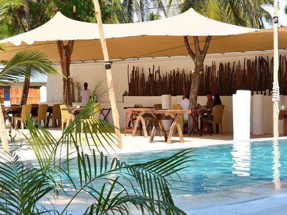 Indigo Beach Zanzibar dining area