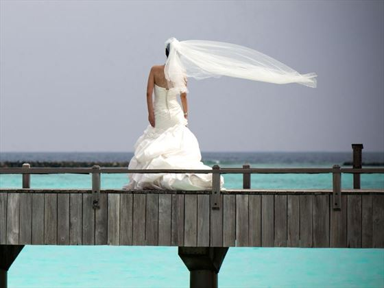 Bride at The Sun Siyam Iru Fushi