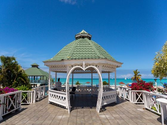 Wedding gazebo at the Jolly Beach