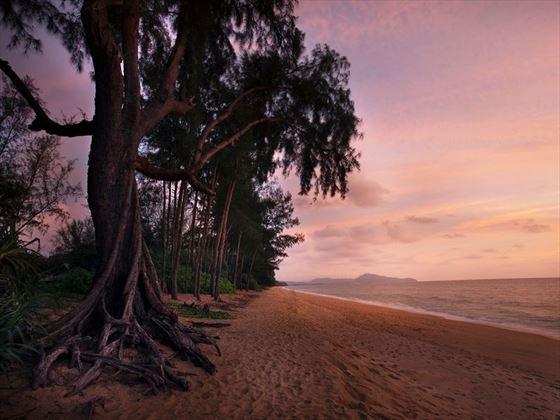 JW Marriott Phuket beach at sunset