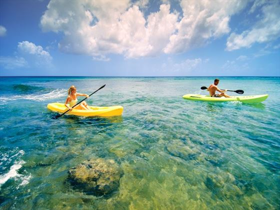 Kayaking at Almond Beach Resort
