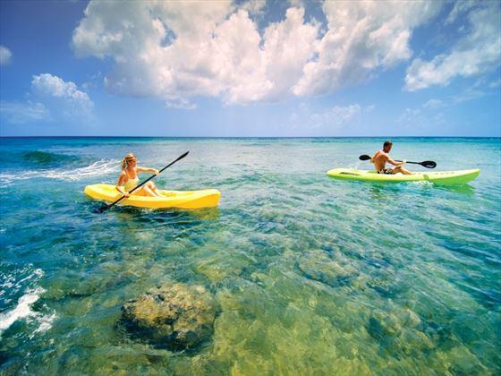 Kayaking at Almond Beach Resort