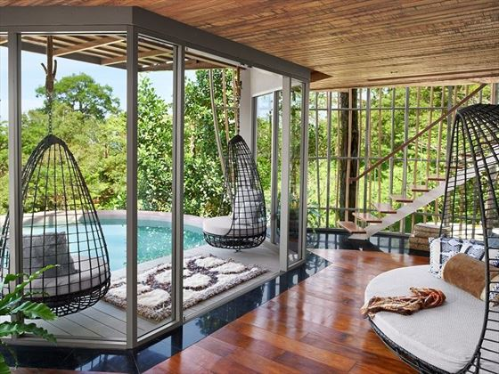 Tree Pool House lounge area in Keemala