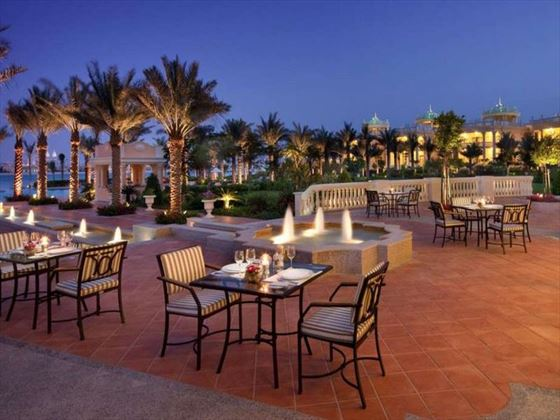 Kempinski Hotel & Residence Palm Jumeirah outdoor dining terrace