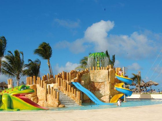 Kids swimming pool with slides