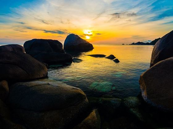 Koh Tao at sunrise