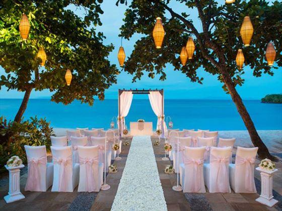 Beach romance wedding at The Laguna Bali