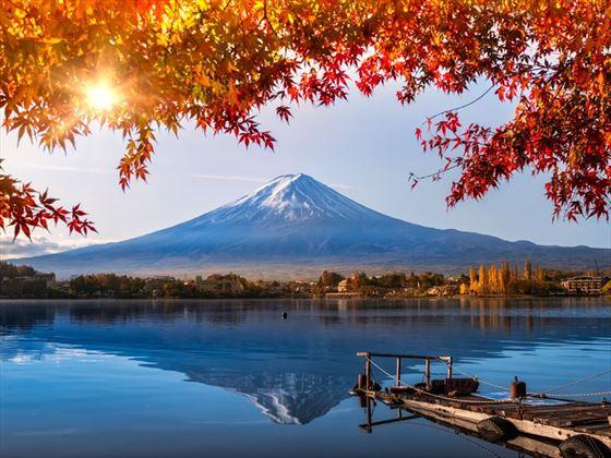 Mount Fuji overlooking Lake Kawaguchiko