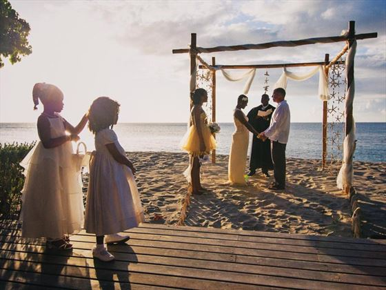 Stunning beach wedding at Laluna